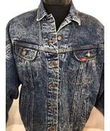 VTG Lee Jean Jacket Denim Acid Wash Red Tab Small Made USA Coat Work Chore - $42.49