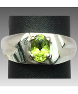 14k Peridot Men's Ring, FREE SIZING - $400.00