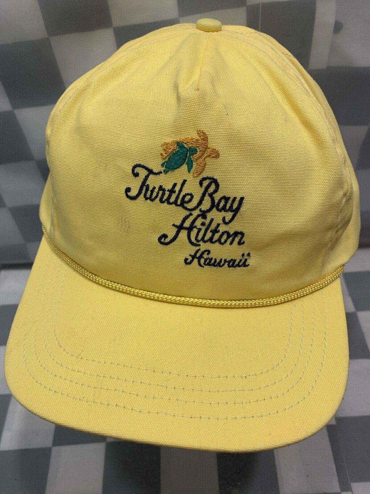 TURTLE BAY HILTON Hawaii Vinateg Made in USA Adjustable Adult Cap Hat