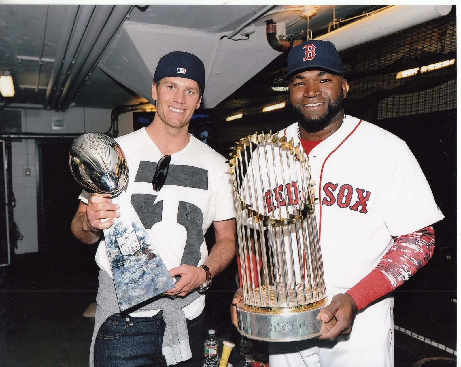Primary image for Tom Brady David Ortiz Patriots Red Sox 8X10 Matted Football Memorabilia Photo
