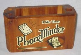 """Neat Vintage 6"""" X 2 1/2"""" X 3"""" Wood Wooden Souvenir Phone Minder - $18.99"""