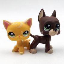 2pcs LPS Kitty Cat Littlest Pet Shop #2194 #1519 Great Dane Dog Puppy Gi... - $19.98