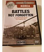 Battles Not Forgotten Military US Heritage Korea Forgotten War 4 DVDs NEW - $16.82