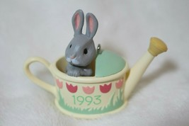 Hallmark Keepsake Easter Ornament Backyard Bunny & Watering Can 1993 Col... - $24.74