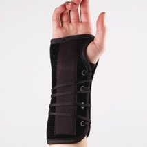Corflex Post-Op Lace Up Wrist Brace for after Surgery-L-Left - Black - $28.10