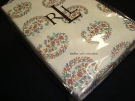 New Ralph Lauren king 2 Pillowcases set  ANTIGUA PAISLEY MOTIF PINK GREE... - $49.99