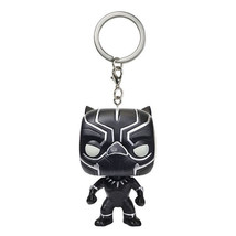 Black Panther Avengers Keychain Marvel Comic Key Chain Ring Funko Pop Fi... - $6.55