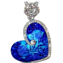 Rose Heart Pendant Necklace For Women Valentines Day Gift For Her Ladies... - $46.61