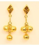 18k gold  beads earring from Thailand #25 - $236.61