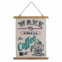 Wall Decor, Coffee Perk Up Linen Decorative Living Room Wall Decorations... - $27.49