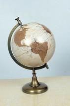 Metal Vintage Brass Desktop Table Rotating Home Decor Round Gold World Maps - $85.31