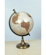 Metal Vintage Brass Desktop Table Rotating Home Decor Round Gold World Maps - £61.24 GBP