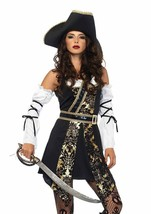 Leg Avenue Black Sea Buccaneer Pirate Sexy Adult Womens Halloween Costum... - $49.99