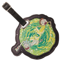 Rick and Morty Animated TV Series Portal Jumping Vinyl Luggage Tag NEW U... - $9.74