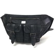 AUTHENTIC BURBERRY BLACK LABEL Waist Pouch Belt Bag Hip Bag Body Bag Black - $508.93 CAD