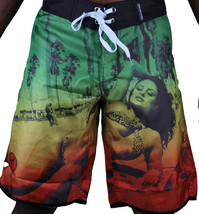 T.I.T.S. Two In The Shirt Hot Girl Beach Jamaica Swim Surf Board Shorts Size: 28 image 1