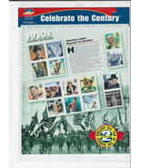 Celebrate The Century Stamps 1910's America Looks Beyond Borders Sheet S... - $19.00