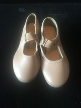 Girls So Danca tap shoes Size 8 1/2 S medium tan brown leather shoes - $19.79