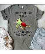 Turtle I Hate Morning People And Mornings And People Men T-Shirt Dark He... - $16.82+