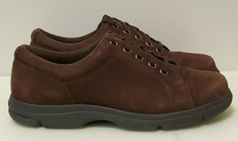 Rockport Dark Brown Suede Lace Up Casual Sneakers For Women Size 6.5 M - $21.46