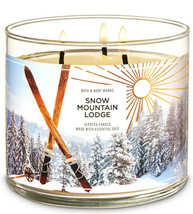 Bath & Body Works Snow Mountain Lodge Three Wick 14.5 Ounces Scented Candle - $22.49
