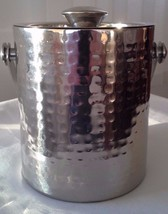 WILLIAMS SONOMA Hammered Stainless Ice Bucket - $28.00