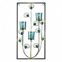 Peacock Three Candle Wall Sconce - $31.99