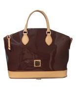 Dooney & Bourke Patent Leather Zip Satchel with Vachetta Trim Bag $89 A3... - $205.92