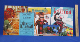 Paul Bunyan & Babe Bemidji Mn Souvenirs Menu Post Card 3 Magazines  Lot ... - $11.83