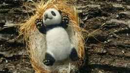 Needle felted little panda - $120.00