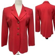 Kasper for ASL Pink Button Front Career Blazer 100% wool Jacket Women's ... - $27.72