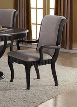 McFerran D1600 Formal Black Finish Grey Fabric Dining ...