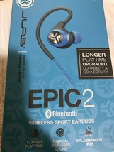 JLab Audio Epic2 Bluetooth 4.0 Wireless Sport Earbuds - Blue - GUARANTEED IPX5