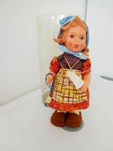 """Vintage 12"""" Goebel Hummel Vinyl Rubber Girl Knitting w/Tube - $18.99"""