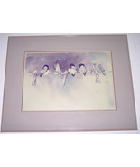 "1987 Rare Sunny Daniels "" Three Chickadees Painting"" Original Watercolor... - $599.99"