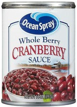 Ocean Spray Whole Berry Cranberry Sauce 14 Oz (6 Cans) - $21.60
