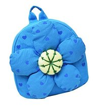 Fashion Infant Knapsack Toddle Backpack Kindergarten School Bag Blue Flower