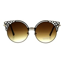 Round Wing Top Sunglasses Womens Cutout Fashion Shades UV 400 - $10.95