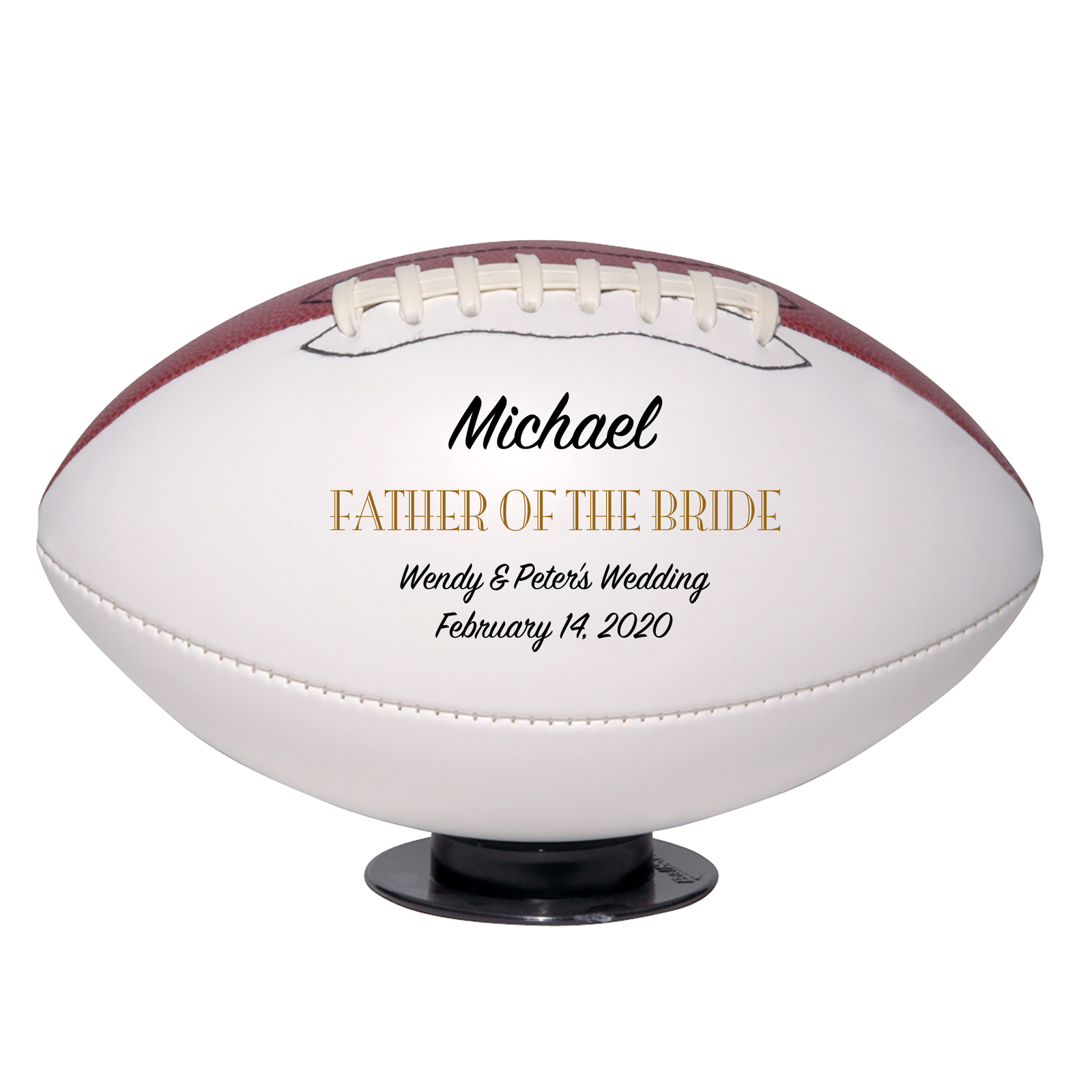 Primary image for Father of the Bride Regulation Football Wedding Gift -Personalized Wedding Favor