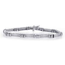 0.50 Carat Diamond Fancy Shaped Link 14K White Gold Bracelet - $1,240.47