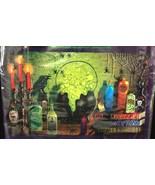 WITCH CAULDRON HORROR POSTER MURAL Mad Scientist Laboratory Halloween De... - $3.89