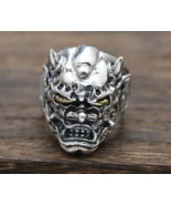 100% Real 925 Sterling Silver Men Jewelry Ring Trendy Handmade Buddha Fi... - $143.99