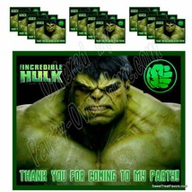 HULK Marvel Party Favor ~LABELS ONLY~ Thank you Decals Stickers Loots Pa... - $12.82