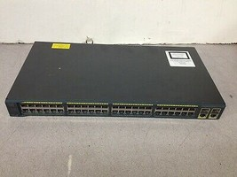 Cisco 2960 Series SI WS-C2960-48TC-S V04 Networking Switch No Power Cord - $60.00