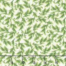Orchid Leaves on Cream Timeless Treasures 100% cotton Fabric by the yard - $14.69