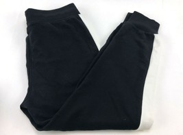 Puma Women's French Terry Contrast Track Jogger Pants Size XL Black - $21.55