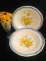 """Mikasa Country Club AMY Vegetable Bowls Lot of 2 Made in Japan 9-1/2""""   503 - $40.15"""