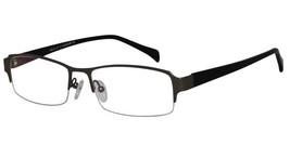EBE Men Gun Eyewear Rectangle Half Rim Regular Hinge Reading Glasses - $27.94+