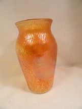 "Tree Bark Carnival Glass Vase Jeanette Finlandia MINT 7 1/2"" - $9.99"