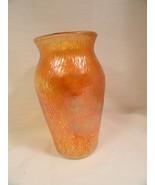 """Tree Bark Carnival Glass Vase Jeanette Finlandia MINT 7 1/2"""" - $9.99"""